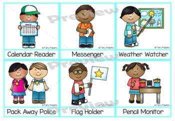Class Jobs Chart & Name Labels {Editable]