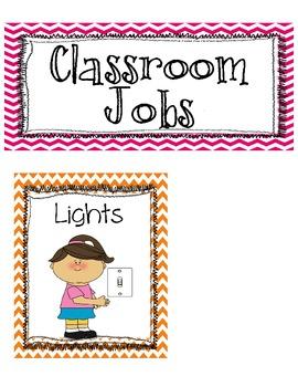 Editable Classroom Jobs Clip chart