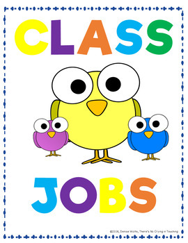 Classroom Jobs & Helper Cards (Editable): Cute Birds