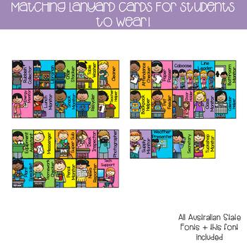 Editable Classroom Jobs Helpers Chart