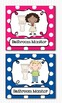 Editable Classroom Jobs Helpers - Kids Bright Multicolored Polka Dots - 38 Cards