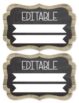 Editable Classroom Jobs Succulent Farmhouse Chic