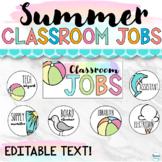 Editable Classroom Jobs   Summer Classroom Decor Jobs Char