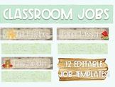 Editable Classroom Jobs - Woodland Theme