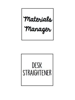 Editable Classroom Jobs and Job Application Form