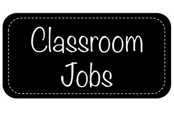 Editable Classroom Jobs for Astrobright Paper