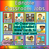 Editable Classroom Jobs for Student Helpers or Leaders
