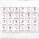 Editable Classroom Jobs with Pictures, Flamingo Classroom Decor