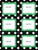 Editable Classroom Labels: Dots and Vertical Stripes