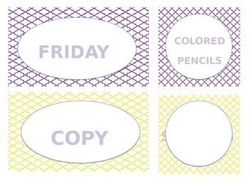 Editable Classroom Labels
