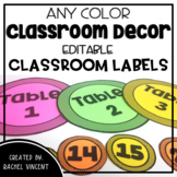 Editable Classroom Labels - Any Color Classroom Decor