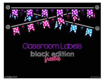 Editable Classroom Labels: Black Edition