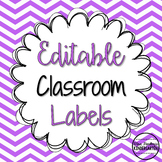 Editable Classroom Labels {Bright Polka Dots & Chevron}