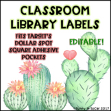 Editable Classroom Labels - Cactus Themed Back to School