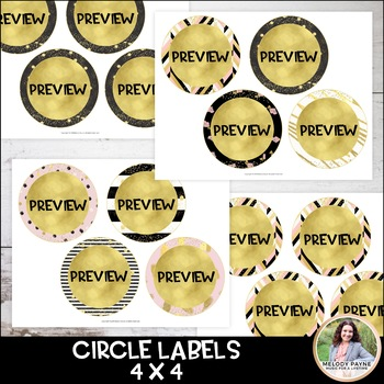 Editable Classroom Labels {Chic, Glam, Gold, Glitter}