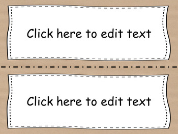 Editable Classroom Labels - Craft Paper - POWERPOINT