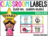 Editable Classroom Labels- Custom Order