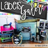 Editable Classroom Labels   Farmhouse Flair NEON TILE