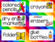 Editable Classroom Labels - Groovy Borders with pictures