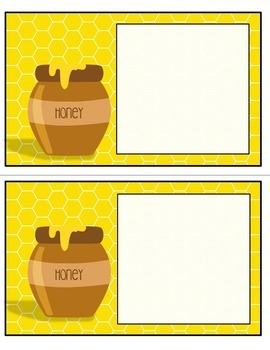 Editable Classroom Labels {Honey Bee Themed}