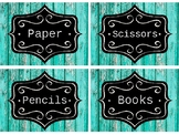 Editable Classroom Labels/Name Tags