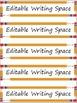 Editable Classroom Labels: Pencils