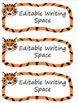 Editable Classroom Labels: Tigers