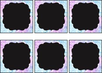 Editable Classroom Labels: Watercolor/Mermaid Theme