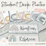 Modern BOHO RAINBOW Editable Classroom Labels & Student De