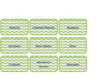 Editable Classroom Labels (chevron and scalloped)