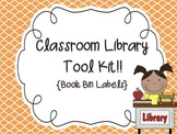 {Editable} Classroom Library Book Bin Labels