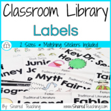 Editable Classroom Library Book Bin Labels with Matching S
