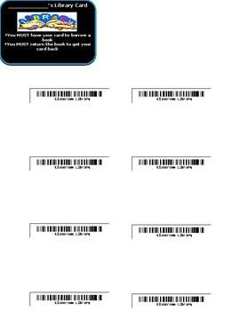 Editable Classroom Library Cards
