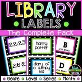 Editable Classroom Library Labels Complete Pack