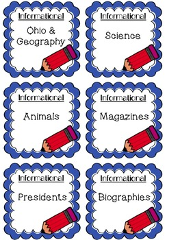 Editable Classroom Library Labels - Target Dollar Spot Adhesive Pockets
