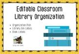 Editable Classroom Library Organization