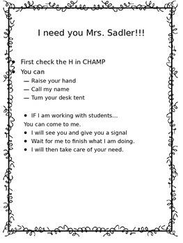 Editable Classroom Management Plan
