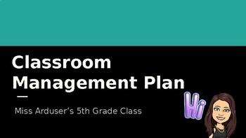 Editable Classroom Management Presentation with Bitmoji