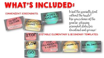 Editable Classroom Management Small Group Power Point Signs