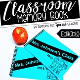 Editable Classroom Memory Book
