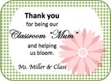 Editable Classroom Mum Thank You Tags
