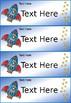 Editable Classroom Name Labels - Space Theme