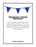 Editable Classroom Names Pennant