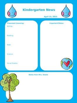 Classroom Newsletters Editable