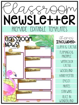 weekly newsletter template editable pirate teaching resources