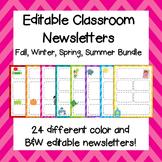 Classroom Newsletters /  Editable Classroom Newsletters Bundle