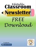 Editable Classroom Newsletter FREE