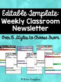Editable Classroom Newsletter | Over 15 Styles to Choose F