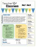 Editable, Reusable Classroom Newsletter Template