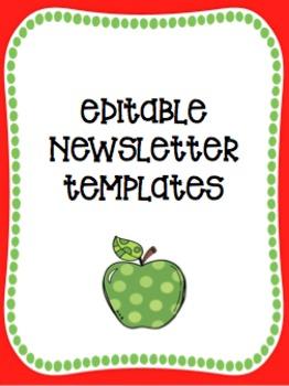 Editable Classroom Newsletter Templates (Seasonal)